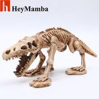 HeyMamba Resin Dinosaur Skull Animal Skull Mini Dinosaur Model Figurines