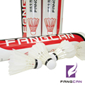 1 tube FANGCAN Durable Training Shuttlecock Red Packing White Feather Speed 76/77