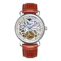 GUANQIN GJ16005 часы для мужчин Элитный бренд Мужские часы скелетоны Роскошные автоматические деловые часы мальчик механические часы
