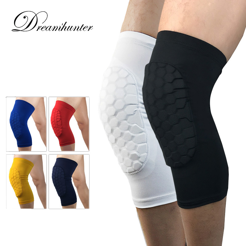 1 Pair Basketball Knee Pads Knee Protector Sports Safety Running Cycling Knee Support Knee Brace Guard Protective Kneepad