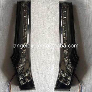For Honda for Fit Jazz 2014 year Hatchback LED Column Lamp Smoke Black Color BW