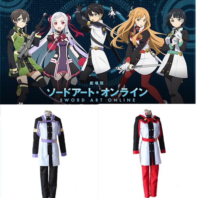 Free Shipping sword art online Kirigaya Kazuto Costume Kirigaya Suguha Cosplay Men and women fighting clothes Halloween uniform