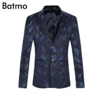 2017 High Quality Famous Brand Casual Printed Blazer Men Business Blazer Jacket Plus Size S M