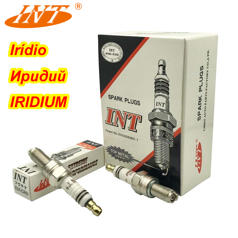 4pcs INT Iridium Motor Spark Plug EIX-CR9 FOR KTM SUZUKI CXR ALFER VRE CR9EK CR9EIX CR9E CR9EIA-9 CR9EB CR9E PMR9B U27ESR-N IU27