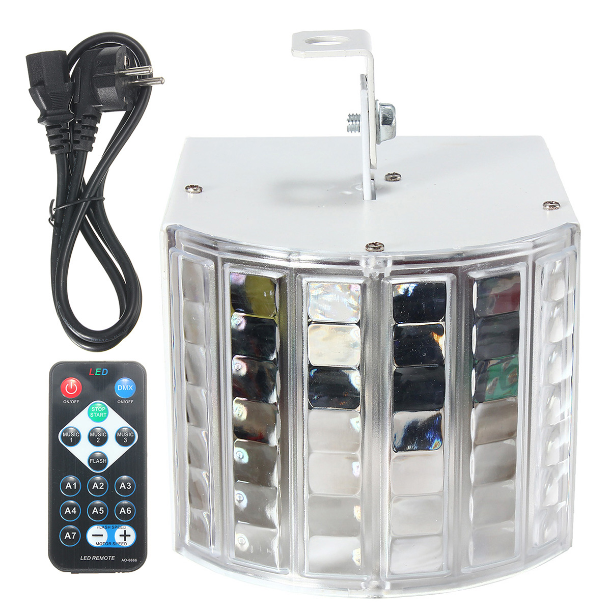 6W LED RGB Auto/Sound Control DMX512 Strobe  Effect Lighting DJ Disco Bar Party 7 Channel With Remote Light Lamp AC90-240V