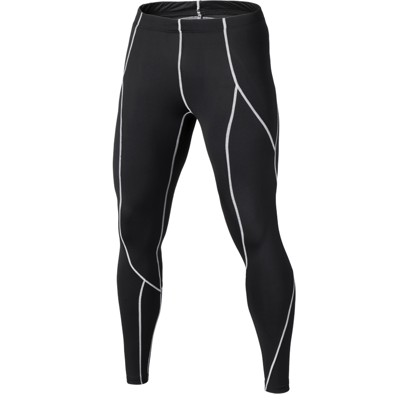 Mens Compression 3//4 Pants Gym Slim Fit Trousers Football Cycling Soccer Tights
