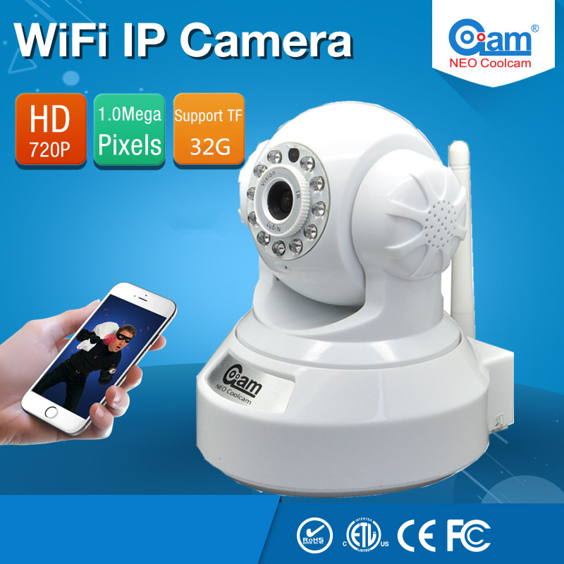 HD 720P Wireless Security IP Camera Wifi with TF Card Slot IR-Cut Night Vision Two-way Audio PT Surveillance Network CCTV Camera hd 960p wireless ip camera wifi ir cut night vision two way audio p2p video surveillance security camera wi fi micro sd card