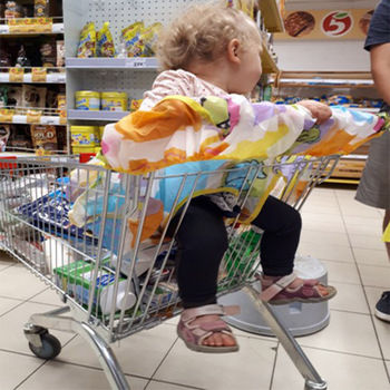 ショッピングカートカバー保護ベビースーパーマーケットショッピングバッグキャリー幼児カートシートカバー再利用可能なトートバッグ安全トロリーカバー 2N