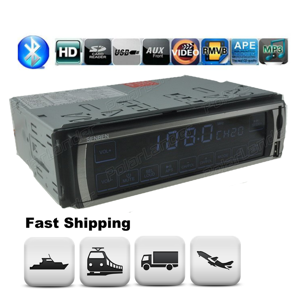 MP3/WMA/WAV player Car Stereo Radio LCD Bluetooth 3078 FM/SD/USB/MMC MP3 Player 1 DIN 12V Touch Screen Aux-in 5V Charger In-Dash fm модулятор lcd sd usb mp3