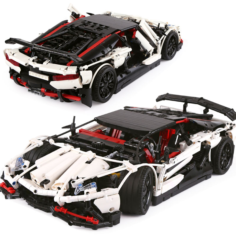 DHL 23006 MOC Technic Car Series The Super Racing Car Set Compatible With MOC 3918 Building