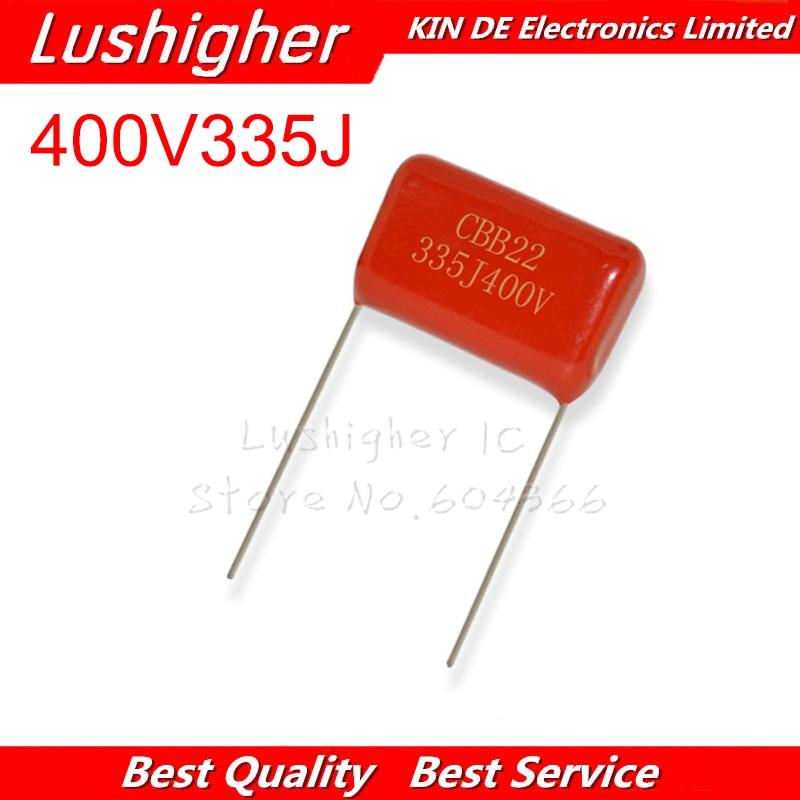 10PCS 400V335J 3.3uF Pitch 25mm 400V 335J 335 3300nf 335J400V CBB Polypropylene Film Capacitor