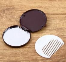 Мини-карман темно-коричневого цвета с милым шоколадным печеньем в форме макияжа для макияжа с расчес