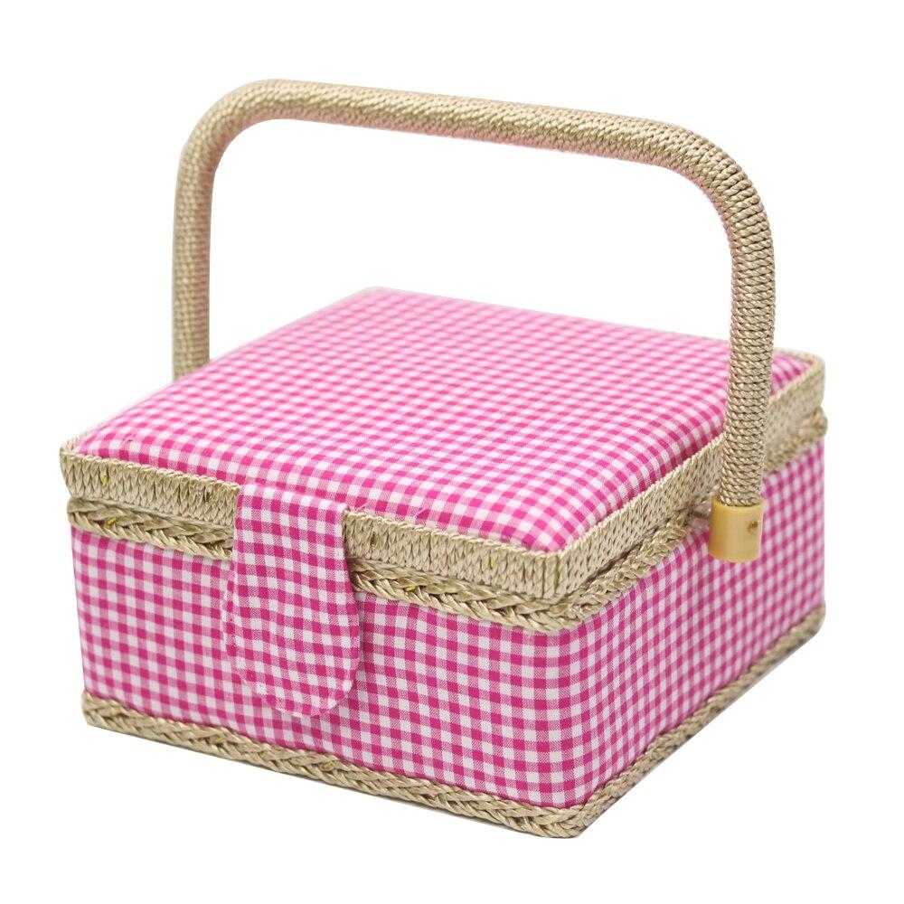 Haushalt Baumwollgewebe & Holz Handwerk Mini Nähen Aufbewahrungsbox ...
