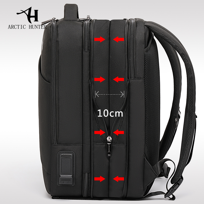 Man Backpack Laptop Male Bag Arctic Hunter Travel Multi-Layer Recharging Fit USB High-Capacity