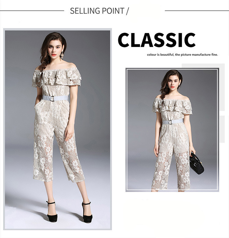 New Women Lace Strapless Pants Trousers Jumpsuit Bodycon Playsuit Women Clubwear Beach Party Romper Suit 2018 Sexy Lace Overalls 9