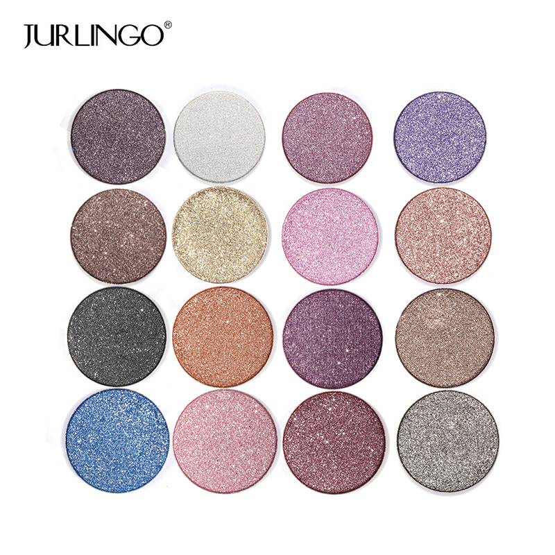 2017 Professional Diamond Eye Shadow Palette Make Up Waterproof Shimmer Eyeshadow Pigment With Brush Makeup Cosmetics JURLINGO