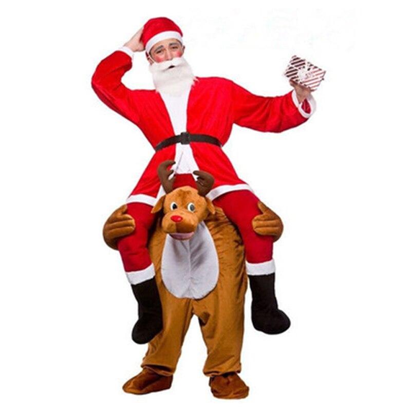 Nouveauté monter sur moi Elk mascotte Cosplay Costumes porter retour drôle Animal pantalon fantaisie habiller Oktoberfest fête de noël vêtements
