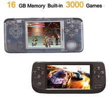 Retro Game Console 64bit 16GB Built-in 3000 Classic Games Multifunction Portable Handheld Game Player TV Output 64bit game command