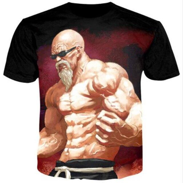 Sondirane 2018 verano mujeres camisetas hombres Anime imprimir Dragon Ball 3D  camiseta Oogway Tees maestro 2802407ac32