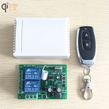 QIACHIP 433Mhz Universal Wireless Remote Control Switch AC 85V 110V 220V 2CH Relay Receiver Module & RF 433 Mhz for Light Switch qiachip wireless lights switch kit 3ch 433mhz rf remote control light switch and receiver module touch home wall light panel set