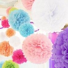 1 adet 8 inç (20 cm) ponpon Doku Kağıt Pom Poms Çiçek Öpüşme Toplar Ev Dekorasyon Şenlikli Parti Malzemeleri Düğün Iyilik topu