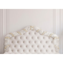 Hot baroque bed headboard tufted bed photography backdrop thin vinyl photo studio background wallpaper F-2515(China)