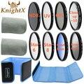 KnightX camera FLD UV CPL Star Filter Line set Lens Cap Cover for nikon d3200 d5200 d5100 d3300 d3000 d3100 Canon EOS 400D D3000