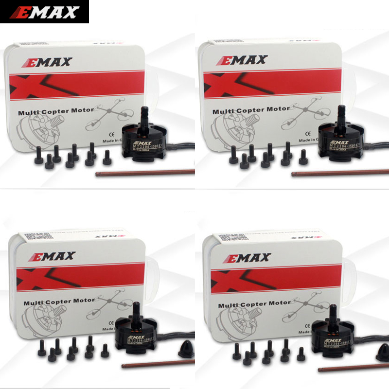 4set/lot Original Emax MT2206 1500KV 1900KV Brushless Motor For QAV250 Mini Multirotor Quadcopter (2CW +2CCW) Wholesale original emax rs1104 5250kv brushless motor t2345 tri blades propellers cw ccw props for 130 rc brushless racer drone q20400