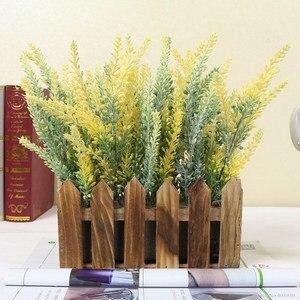 Image 3 - Romantic Provence decoration lavender flower silk artificial flowers grain decorative Simulation of aquatic plants