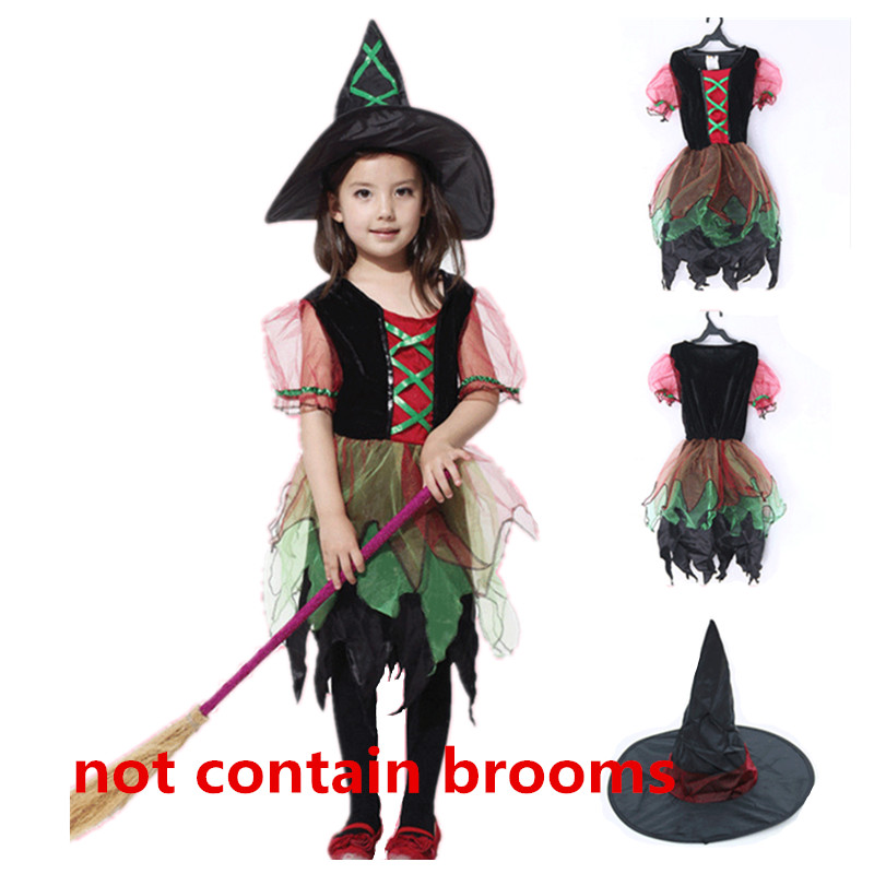 Kids School Party Cosplay Costumes Witch Costume for Girl Dance Dress Party Children Clothes Kids Fancy Dress Witch Cosplay