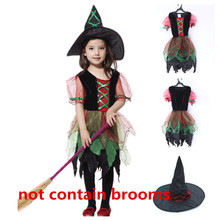 Kids School Party Cosplay Costumes Witch Costume for Girl Dance Dress Party Children Clothes Kids Fancy Dress Witch Cosplay цена в Москве и Питере