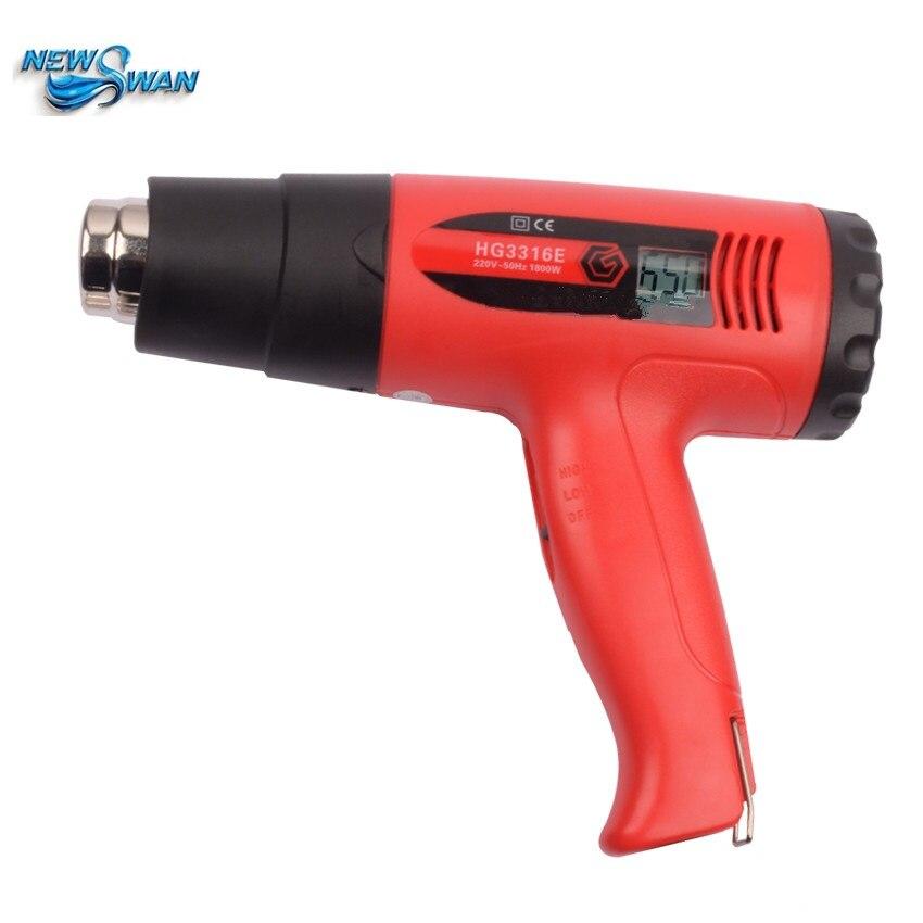 Professionnel HG3316E Thermostat numérique pistolet à Air chaud 1600 w voiture feuille torréfié industriel électrique haute température pistolet à chaleur