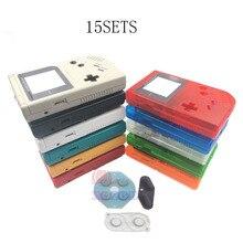 15 סטי דיור מקרה W/סיליקון גומי מוליך Pad עבור Gameboy משחק ילד קלאסי מקורי GB קונסולת דיור פגז מקרה כיסוי