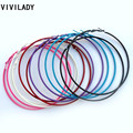 VIIVLADY Fashion 12pairs/lot Big Colorful Hoop Earrings Dancer Jewelry Bijoux Accessory Women Femme Brincos For Retailers Price