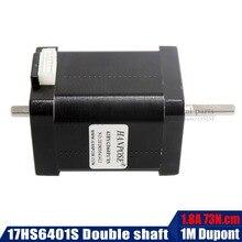 Double shaft 42 motor 4 lead NEMA 17 Stepper motor 1.8A 73N.cm 60MM length 17HS6401S motor for 3D printer and cnc