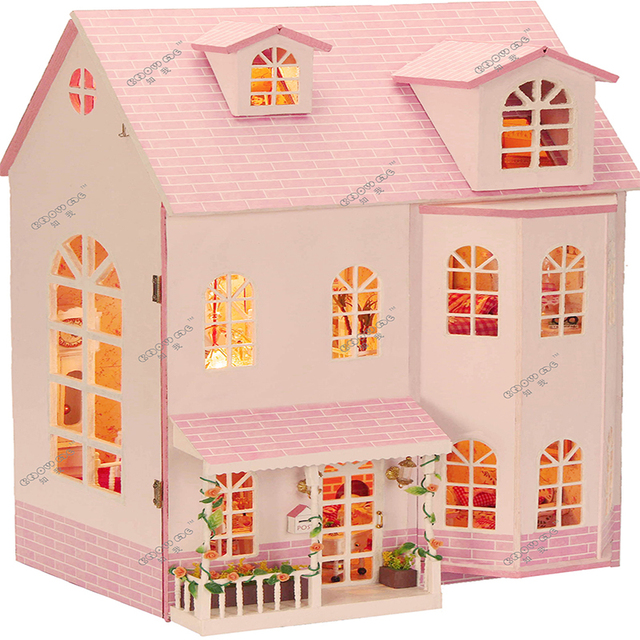 Diy Big Wooden Miniatura Doll House Furniture Large Handmade 3d