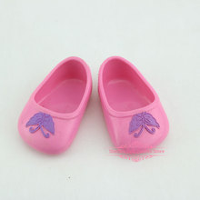 1pcs Pink Leather Shoes Fit For 43cm  Baby Reborn Doll 17 Inch Doll Accessoires
