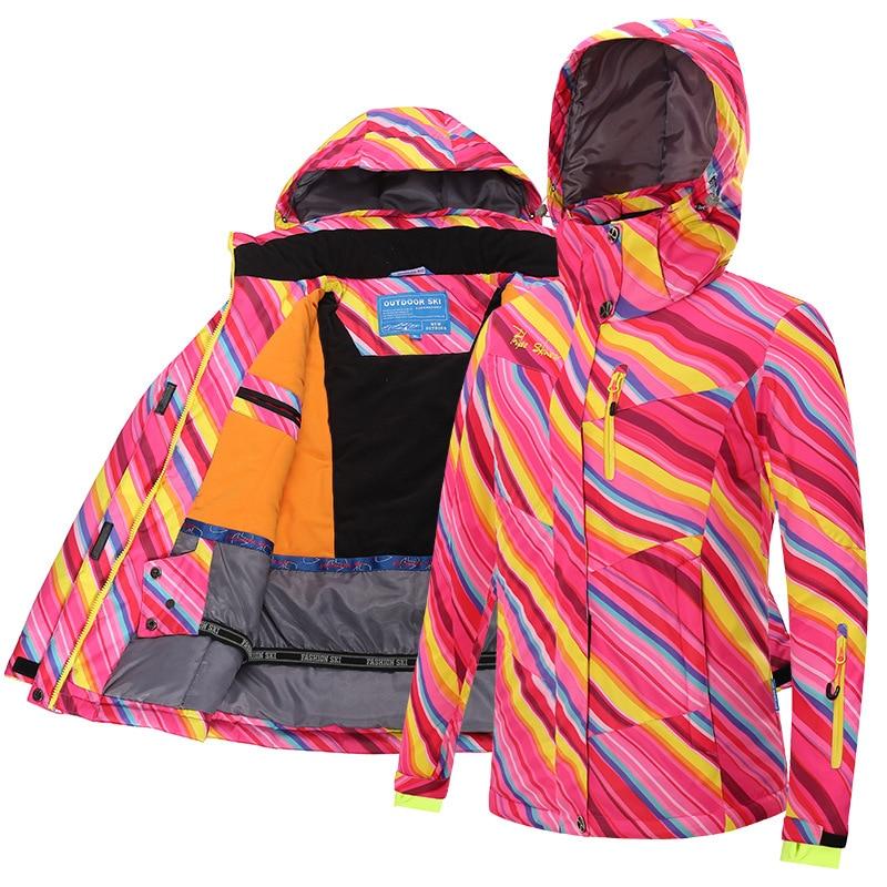 Befusy hiver veste de Ski femmes imperméable coupe-vent Snowboard manteau neige femme chaud extérieur Ski de montagne randonnée manteau pour fille
