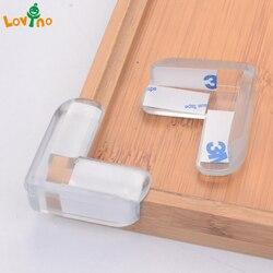 4 pçs criança segurança do bebê protetor de silicone transparente mesa canto proteção capa crianças anticollision borda canto guardas