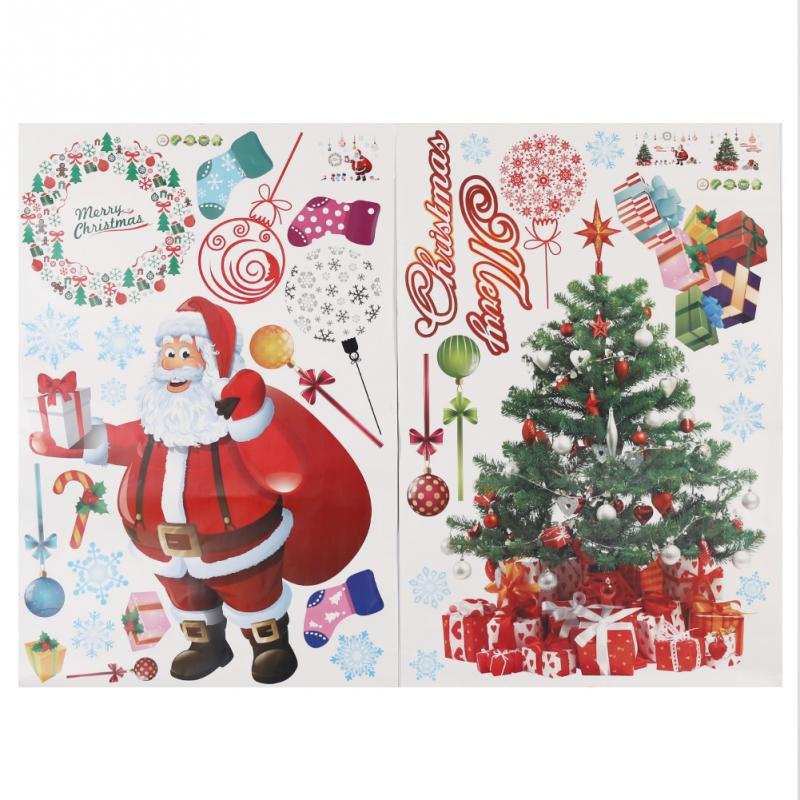 2pcs 60cm 90cm Large Merry Christmas Xmas Tree Santa Claus Gift