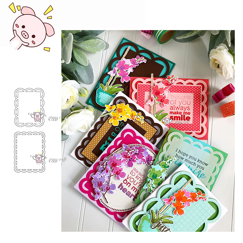 Pp Craft Metal Cutting Dies Cut Die Mold Two Semi-circular Frames Scrapbook Paper Craft Knife Mould Blade Punch Stencils Dies Electronic Components & Supplies