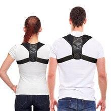 Posture Corrector Clavicle Spine Back Shoulder Lumbar Brace Support Belt Correction Prevents Slouching