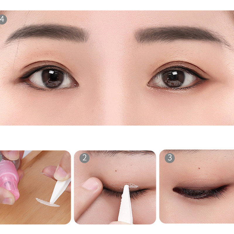 240 Pcs/5 Packs Invisible Mesh Double EyelidTape Lace Eyelid Sticker Women Make Up Eyeliner Sticker For Eyes Makeup Tool Stikers