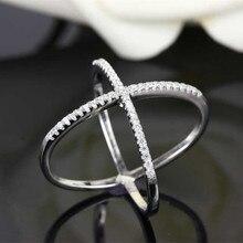 Модельер 925 стерлингов Серебряные ювелирные изделия 3A кубического циркония крест кольцо
