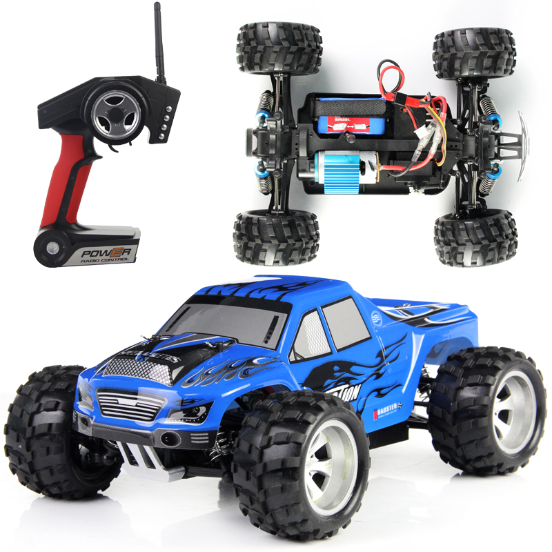 Original Box + WLtoys A979 RC Car 1:18 Full Scale Remote Control Car RC Monster Truck 4WD with Shock System 50KM/H (In stock) remote control 1 32 detachable rc trailer truck toy with light and sounds car
