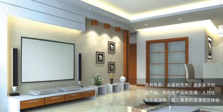 PVC Fabric Matte With 1.1 Gain Projector  projection screen Wall Mounted Matt White for all projector (9)