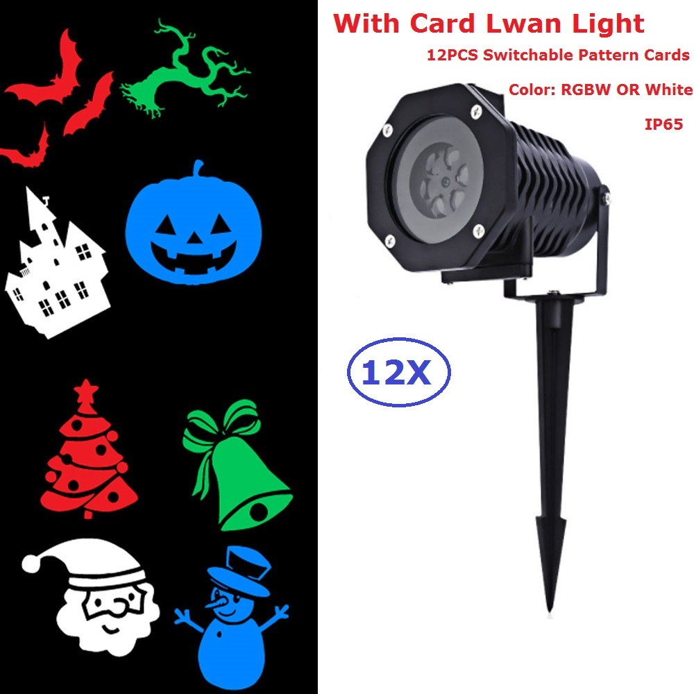 Outdoor Use 4X1W RGBW 4IN1 LED Lwan Light Disco DJ Laser Lighting With 12PCS Switchable Pattern Cards For Christmas Halloween sanwa button and joystick use in video game console with multi games 520 in 1