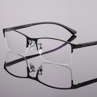Men glasses, semi-rimless metal frames fashion ultra-light tr90 temple durable steel eyeglass frame manufacturers wholesale 8085