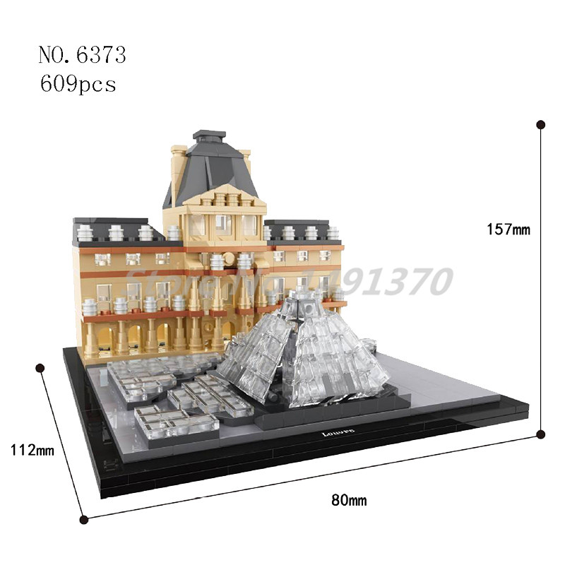 World Famous Cultural Architecture Building Blocks Louvre Museum Paris Mini City Bricks Educational Toys For Children Gifts lego architecture series city building blocks toys paris louvre building toys a tourist souvenir for lego travel toys brinquedos