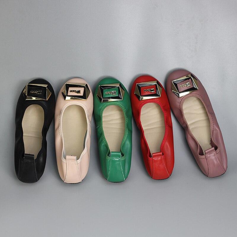 lavanda 43 Scarpe Black Appartamenti Delle Di pink Genuino Shoes Formato on Donne Ballet 34 Modo Slip Cuoio Donna Mocassini red Grande Autunno Del Da qPvBPR